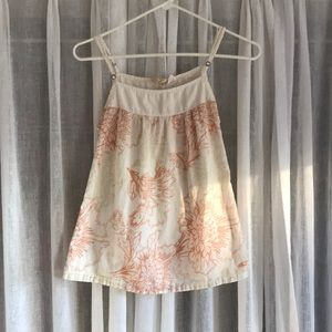 O'Neill tank top camisole floral xs white orange